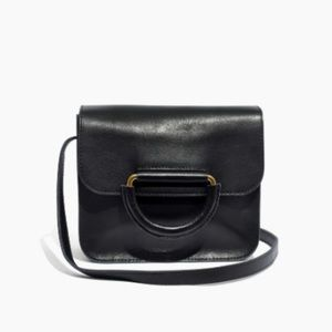 Madewell The Holland Leather Shoulder Bag Black